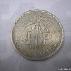 Monedas antiguas de África: CONGO BELGA, 1 FRANCO DE METAL DE 1922. REY ALBERTO I. Lote 59957083