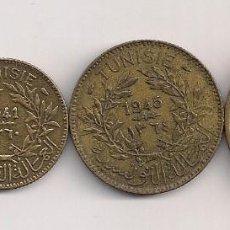 Monedas antiguas de África: TÚNEZ - 4 MONEDAS DE 1941 - 1946 DIFERENTES KMS. Lote 61136151