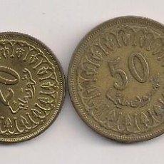 Monedas antiguas de África: TÚNEZ - 4 MONEDAS DE 10-20-50-100 MILLIM 1960-1983. Lote 61154923