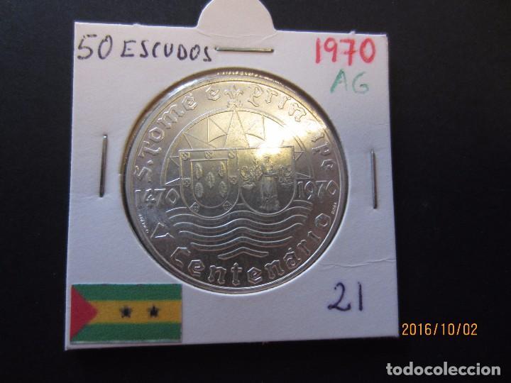 SANTO TOME Y PRINCIPE 50 ESCUDOS 1970 KM21 SC PLATA (Numismática - Extranjeras - África)