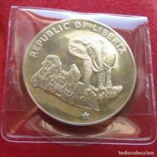 Monedas antiguas de África: LIBERIA 5 $ 1975 ELEFANTE /A/. Lote 61836028