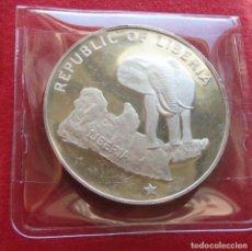 Monedas antiguas de África: LIBERIA 5 $ 1976 ELEFANTE . Lote 61836096