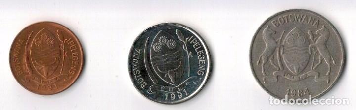 Monedas antiguas de África: BOTSWANA - 5 1991 - 10 1991 - 25 1984 - THEBE - Foto 2 - 67970409