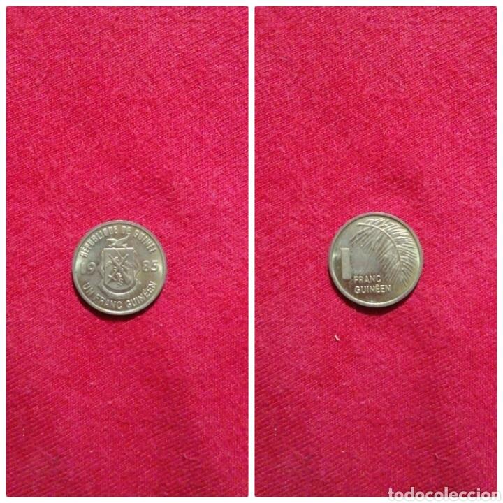 MONEDA DE GUINEA 1 FRANC GUINEANO 1985 (Numismática - Extranjeras - África)