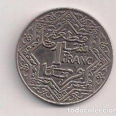 Monedas antiguas de África: MARRUECOS - 1 FRANCO 1921 - KM#36.1. Lote 87006391