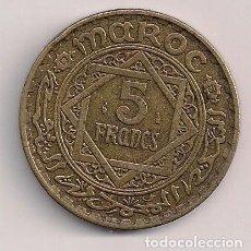 Monedas antiguas de África: MARRUECOS - 5 FRANCOS 1945-1365 - KM#43. Lote 71151501
