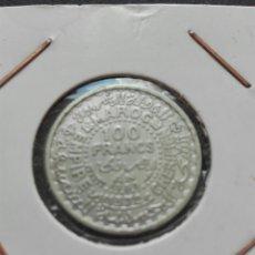 Monedas antiguas de África: MARRUECOS PLATA CIEN FRANCOS AÑO 1955. Lote 72460749
