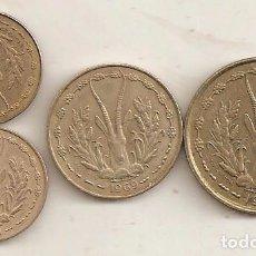 Monnaies anciennes d'Afrique: AFRICA FRANCESA. 4 MONEDAS DE AÑOS DIFERENTES. MBC-EBC. Lote 75791127