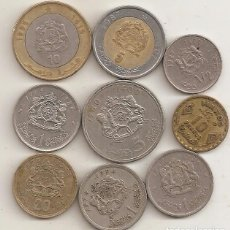 Monedas antiguas de África: MARRUECOS. 9 MONEDAS DIFERENTES. Lote 75791495