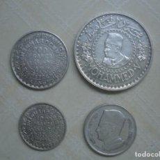 Monedas antiguas de África: MARRUECOS. MOHAMED V. 4 MONEDAS DE PLATA. 100 Y 200 FRANCOS 1953, 500 FRANCOS 1956 Y 1 DIRHAM 1960. . Lote 76173807