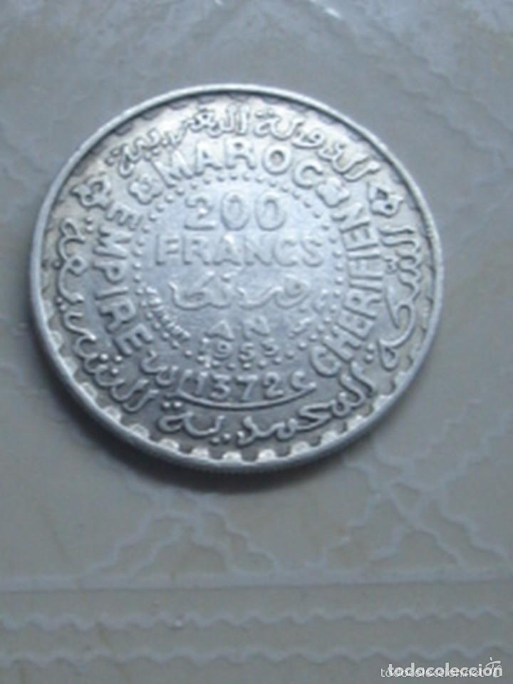 Monedas antiguas de África: Marruecos. Mohamed V. 4 monedas de plata. 100 y 200 francos 1953, 500 francos 1956 y 1 dirham 1960. - Foto 3 - 76173807