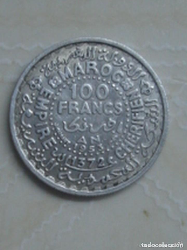Monedas antiguas de África: Marruecos. Mohamed V. 4 monedas de plata. 100 y 200 francos 1953, 500 francos 1956 y 1 dirham 1960. - Foto 5 - 76173807