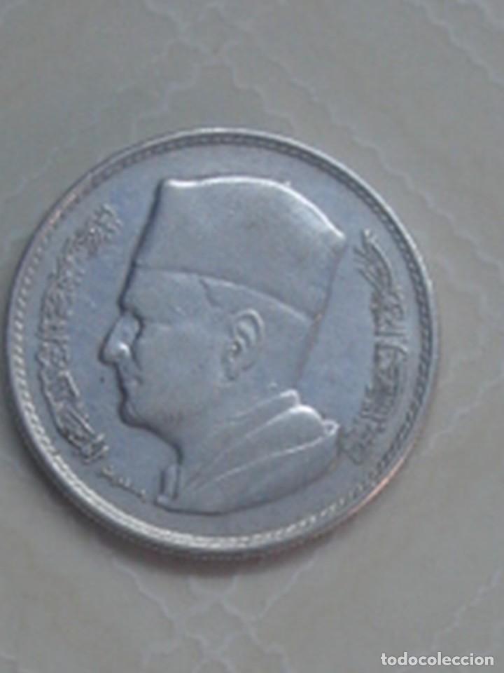 Monedas antiguas de África: Marruecos. Mohamed V. 4 monedas de plata. 100 y 200 francos 1953, 500 francos 1956 y 1 dirham 1960. - Foto 7 - 76173807
