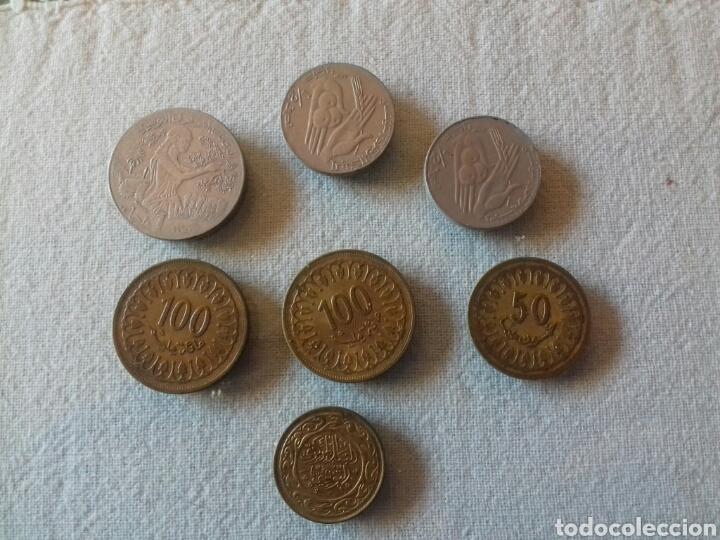 LOTE DE 4 MONEDAS DE TUNEZ (Numismática - Extranjeras - África)