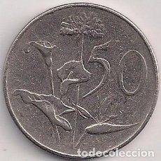 Monedas antiguas de África: SUDÁFRICA - 50 CENTS 1966 - KM#70.1 - FLORA. Lote 84121448