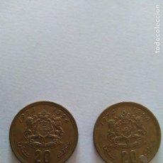 Monedas antiguas de África: 2 MONEDA 20 DIRHAM MARRUECOS. Lote 84916580