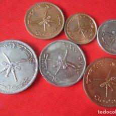 Monedas antiguas de África: QATAR. SERIE DE 6 MONEDAS DIFERENTES SIN CIRCULAR. Lote 221747195