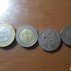 Monedas antiguas de África: 4 MONEDAS MARRUECOS 10, 5, 2 Y 1 DIRHAM. Lote 90340188
