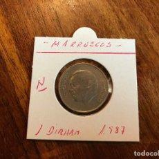Monedas antiguas de África: MARRUECOS 1 DIRHAM 1987 KM 88. Lote 92739505