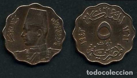 EGIPTO 5 MILLIEMES AÑO 1943 - Nº3 (Numismática - Extranjeras - África)