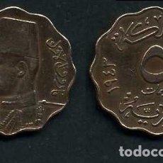 Monedas antiguas de África: EGIPTO 5 MILLIEMES AÑO 1943 - Nº3. Lote 120866039