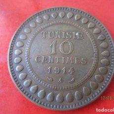 Monedas antiguas de África: TUNISIA. 10 CENTIMOS. 1914. Lote 95521823