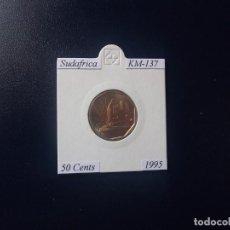 Monedas antiguas de África: SUDAFRICA 1995, 50 CENTS, KM-137, SC-UNC. Lote 97352571