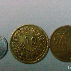 Monedas antiguas de África: TRES MONEDAS DE TÚNEZ Y MARRUECOS. Lote 99187563