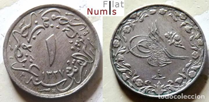 EGIPTO - 1/10 DE QIRSH - AH1327/3 - 1911H - CUPRONIQUEL - ESCASA (Numismática - Extranjeras - África)
