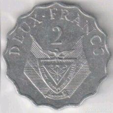 Monedas antiguas de África: RUANDA. 2 FRANCOS 1970. . Lote 101835519