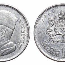 Monedas antiguas de África: *** MUY BONITO DIRHAM DE 1960, MARRUECOS. KM#Y55. PLATA ***. Lote 103274911
