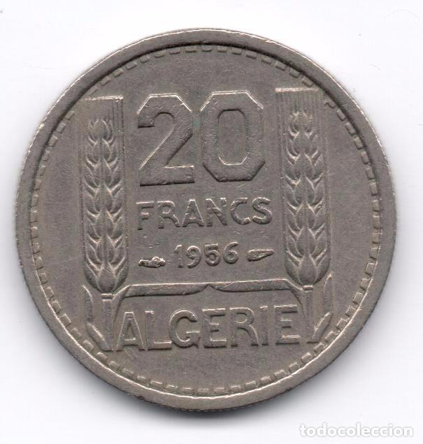 ARGELIA - 20 FRANCS 1956 (Numismática - Extranjeras - África)