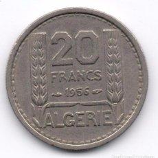 Monedas antiguas de África: ARGELIA - 20 FRANCS 1956. Lote 103601447