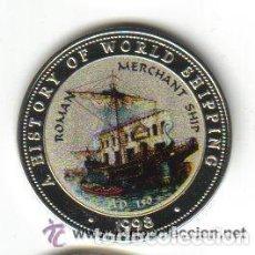 Monedas antiguas de África: SOMALIA - (COLECCION BARCOS ROMAN MERCHANT SHIP) 25 SHILLINGS 1998 FDC - 20 GRAMOS - DIAMETRO 38 MM . Lote 103870767