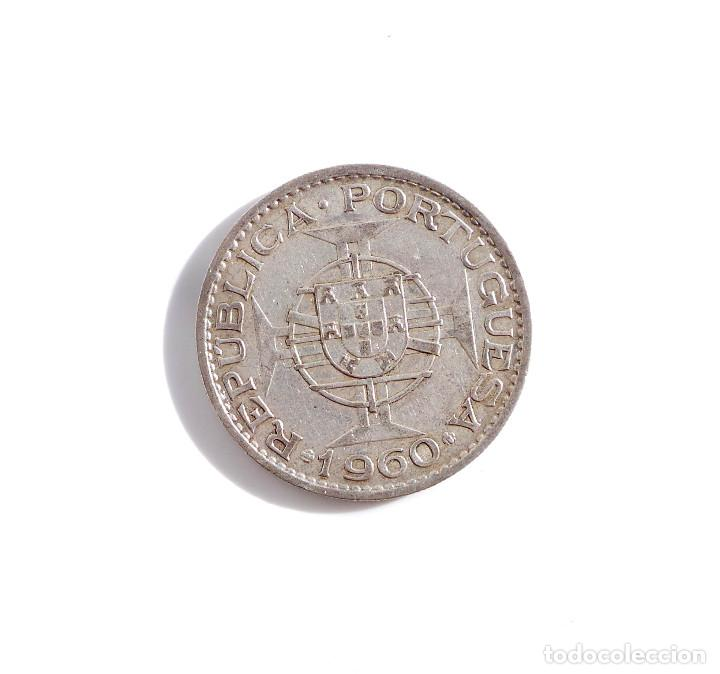 Monedas antiguas de África: PORTUGAL.- 20 ESCUDOS DE MOZAMBIQUE DE 1960, COLONIA DE PORTUGAL - PLATA - Foto 2 - 104061175