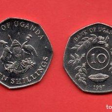 Monedas antiguas de África: UGANDA - 10 SCHILLING 1987 SC KM30. Lote 104285655