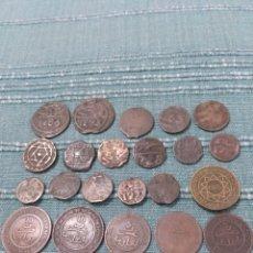 Monedas antiguas de África: LOTE DE 25 ANTIGUAS MONEDAS DE MARRUECOS. A CLASIFICAR.. Lote 105166526