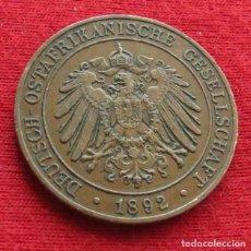 Monedas antiguas de África: ALEMANIA DOA 1 PESA 1892 1309 AFRICA TANZANIA. Lote 107091895
