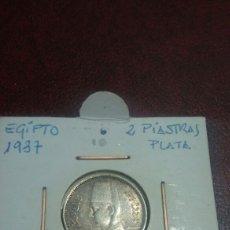 Monedas antiguas de África: MONEDA PLATA EGIPTO 2 PIASTRA 1937. Lote 108449900