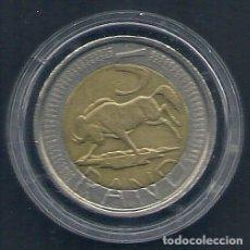 Monedas antiguas de África: ÁFRICA DEL SUR - 5 RAND 2005 - EBC - CAT.SCHOEN Nº. 385 - VISITA MIS OTROS LOTES Y AHORRA GASTOS. Lote 109310043