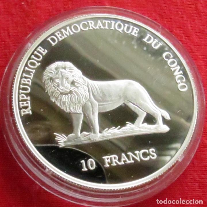 Monedas antiguas de África: Congo 10 fr. 2000 aves - Foto 2 - 109399611