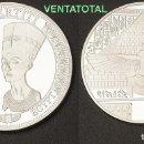 Monedas antiguas de África: MEDALLA PLATA TIPO MONEDA HOMENAJE A NEFERTITI REINA DEL ANTIGUO EGIPTO - PESA 28,22 GRA - Nº3. Lote 110422015
