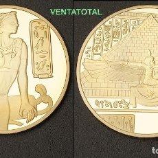 Monedas antiguas de África: MEDALLA ORO TIPO MONEDA HOMENAJE A CLEOPATRA REINA DEL ANTIGUO EGIPTO - PESA 27 GRA - Nº4. Lote 149842601