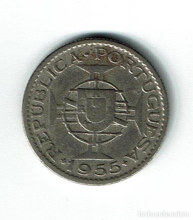 Monedas antiguas de África: MOZAMBIQUE 2,50 ESCUDOS 1955 - Foto 2 - 110923551