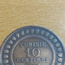 Monedas antiguas de África: MONEDA TÚNEZ 10 CENTÉSIMO 1908. Lote 111235734