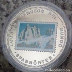 Monedas antiguas de África: CURIOSA MONEDA PLATA CON UN SELLO HELVETIA 20 Y LA IMAGEN DE LAS MONTAÑAS SUIZAS SPANNÖRTER . Lote 112115827