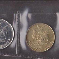 Monedas antiguas de África: MONEDAS EXTRANJERAS -NAMIBIA - SERIE DE 4 VALORES 10-50 CENTS Y 1-5 DOLLAR - KM-2-3-4-5. Lote 112425255