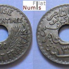 Monedas antiguas de África: TUNEZ - 10 CENT - 1920 - NIQUEL/BRONCE - SIN CIRCULAR. Lote 112901847