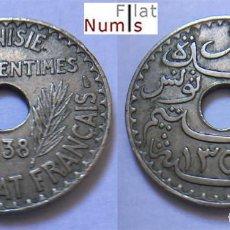 Monedas antiguas de África: TUNEZ - 25 CENT - 1938 - ALUM/BRONCE/NIQUEL - E.B.C.+++. Lote 112903115