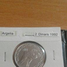 Monedas antiguas de África: ALGERIA 2 D INARS 1992 SC. Lote 113681930